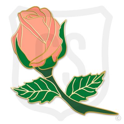 Peach Rose Bud (Flower)