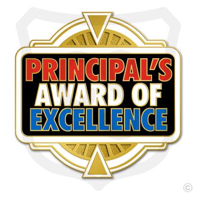 Principal's Award of Excellence (white border)