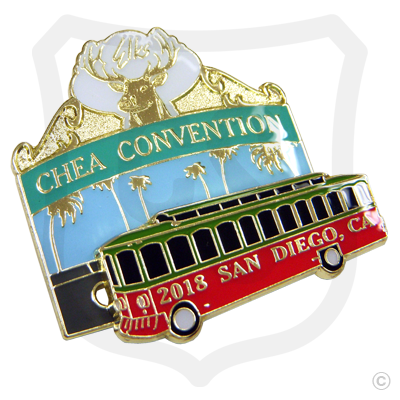 Elks CHEA Convention Slider Pin