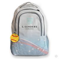 Softball Bag Tag on Backpack