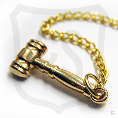 3D Gavel with Chain