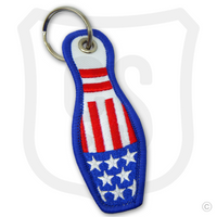 Embroidered USA Flag Bowling Pin