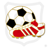 "Item #35 Soccer Ball & Shoe Size: 3/4"""