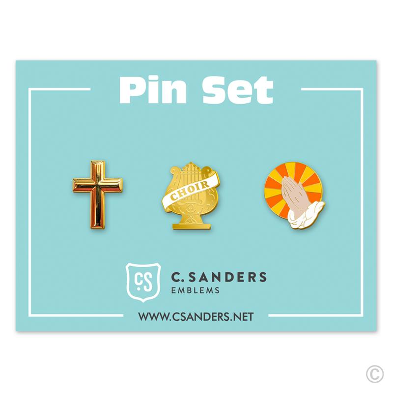Religious Pin Set 3