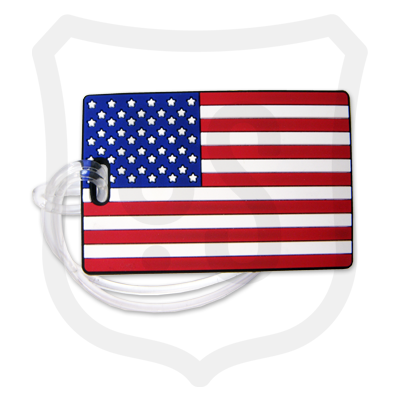 USA Flag PVC Bag Tag