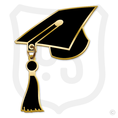 Graduation Cap with Tassel Dangle