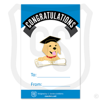 Sample of our Graduation Puppy on backer card