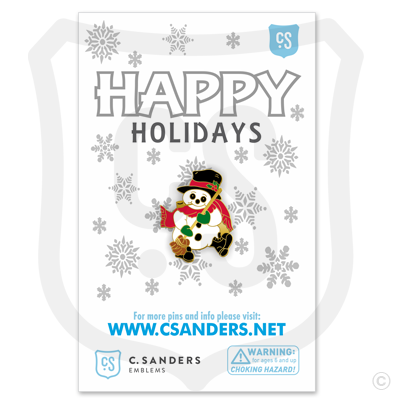 Snowman Pin on Backer Card