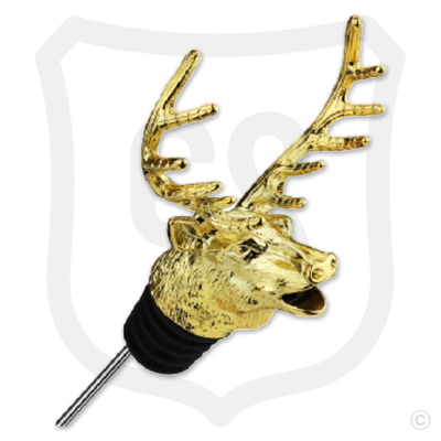 Elk Head Wine Spout Pourer - Gold
