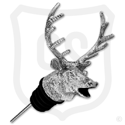 Elk Head Wine Spout Pourer - Nickel