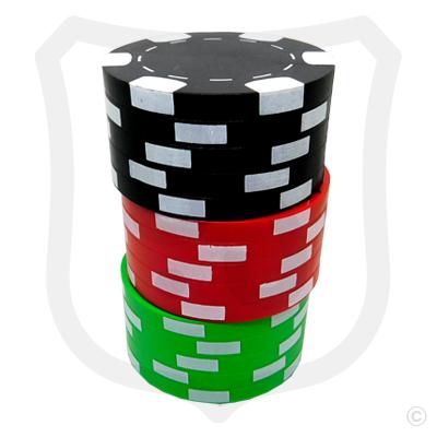 Poker Chips Bottle Opener - Black Top