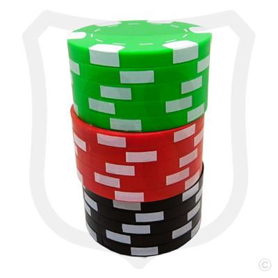 Poker Chips Bottle Opener - Green Top