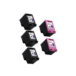 2 Packs Remanufactured for Hp 901xl Black & Color Ink Cc654an Cc656an