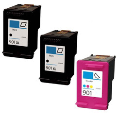 More buying choices for Generic Remanufactured Ink Cartridges Replacement for HP 901 (2xBlack, Color, 3-Pack)