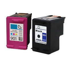 2 Pack eForCity Compatible Ink Cartridge Replacement for HP 901 (Black+Color)