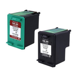 (2 Pack) Hp- No.92 & No. 93 Black and Tri-color Remanufactured Ink Cartridges (C9362wn - C9361wn).