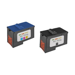 2 Pack (1BK+1C) Remanufactured (Series 2) DELL 7Y743 Black and 7Y745 Color Ink Cartridges for Dell A940 and A960 Printers
