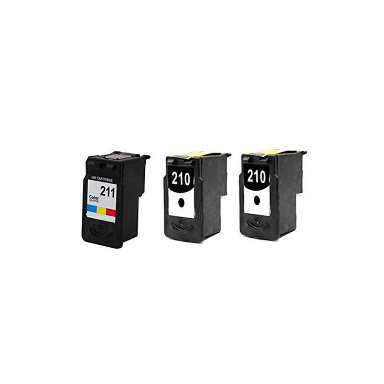 Generic Remanufactured CANON 2 Black 1 Color PG-210 CL-211 High Capacity  Printer Ink Cartridge for Canon Printers PIXMA iP2702 -3PK