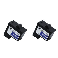 2 Pack Compatible Dell T0529 Black Ink Cartridges For Dell A920 and Dell 720 Printers From Inkers