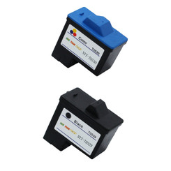2 Pack Compatible T0529 Black + T0530 Color Ink Cartridge For Dell Printer A920 & Dell Printer 720