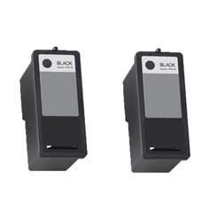 2 Pack (2Black) Remanufactured DELL (Series 9) MK992 Black Ink Cartridges for DELL 926, V305, V305W Printers