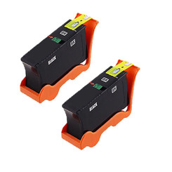 2 Pack Compatible High Yield Dell Series 24 T109N Black Printer Ink Cartridge for Dell All-In-One Printers P713w V715w