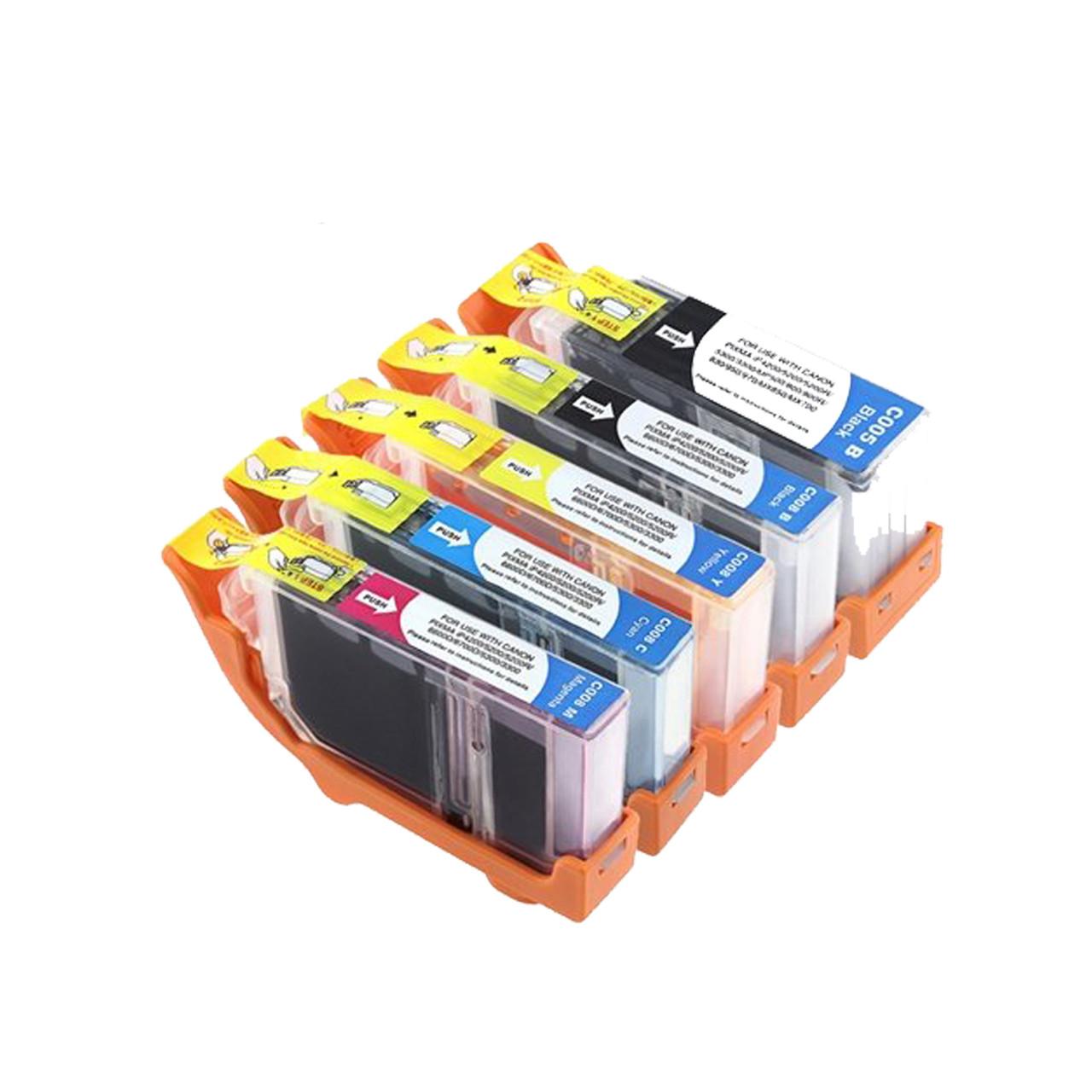 CLI-8M CLI-8C and CLI-8Y for Canon PIXMA MX850 5 PK Canon Compatible CLI-8BK PGI-5BK