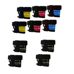 10 Pack (4 Black + 2 Cyan + 2 Magenta + 2 Yellow) Non-OEM Ink Cartridge for LC61 Brother DCP 165C MFC 250C 255CW 290C 295CN