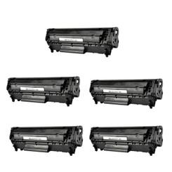Canon 0263B001A, FX-9, Canon 104 Premium Compatible Laser Toner Cartridge RH-Q2612A/FX-9/C104 (Black, 5-Pack)
