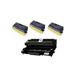 (3) 100% Brand New Compatible with Brother Tn570 (Tn540) High Yield Toner + compatible with (1) Remanufactured Brother Dr510 Drum Combo Set FOR Brother HL-5100