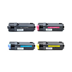 4 Pack Of Compatible Brand Dell 1320c Black And Color Toners - 310-9058, 310-9060, 310-9062, 310-9064