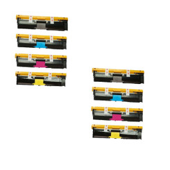 Compatible Black Cyan Magenta Yellow High Capacity Konica Minolta Toner Cartridge 1710587-004 1710587-005 1710587-006 1710587-007 (8000 Page Yield) for Konica Minolta MagiColor 2490MF- 2Sets
