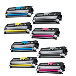 8 Pack Compatible Konica Minolta QMS 1600 2Sets Toner Cartridge for MagiColor 1600W 1680MF