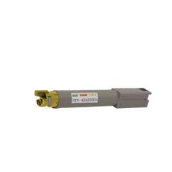 1 Pack Compatible Okidata OKI 43459301 Yellow Toner Cartridge for C3400 C3400n C3520 C3530 C3600n
