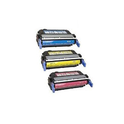 Remanufactured Replacement Laser Toner Cartridge for Hewlett Packard Q5951A Q5952A Q5953A Cyan Yellow Magenta -3PK