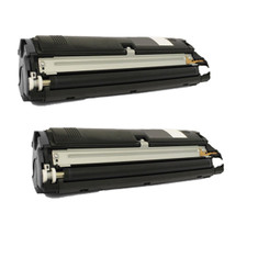 2 Pack Compatible Black High Capacity Konica Minolta Toner Cartridge 1710587-004 (8000 Page Yield) for Konica Minolta Magicolor 2400W