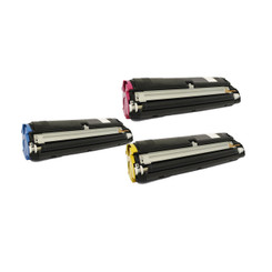 3 Pack Compatible Cyan Magenta Yellow High Capacity Konica Minolta Toner Cartridge 1710587-005 1710587-006 1710587-007 (8000 Page Yield) for Konica Minolta Magicolor 2400W