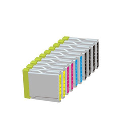 10 Pack. Compatible Cartridges for Brother LC-51. Includes Cartridges for 4ea LC-51 Black + 2ea LC-51 Cyan + 2 ea LC-51 Magenta, 2 ea LC-51 Yellow.