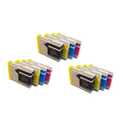 12-Pack Compatible Ink Cartridges for Brother LC51 MFC 230C 240C 350C 440CN 465CN 3360C 5460CN 5860CN 665CW 685CW 845CW 885CW