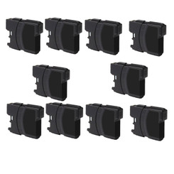 10-Pack BLACK Non-OEM Ink for Brother LC61 DCP 165C MFC 250C 255CW 290C 295CN 385CW 490CW 585CW 790CW 5490CW 5890CW 6490CW