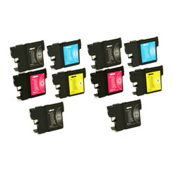 10-Pack Non-OEM Inkjet Cartridge for Brother LC61BK LC61C LC61M LC61Y LC61 BLACK CYAN MAGENTA YELLOW