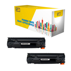 NYT CE285A Compatible Replacement Toner Cartridge for HP - 2Pack