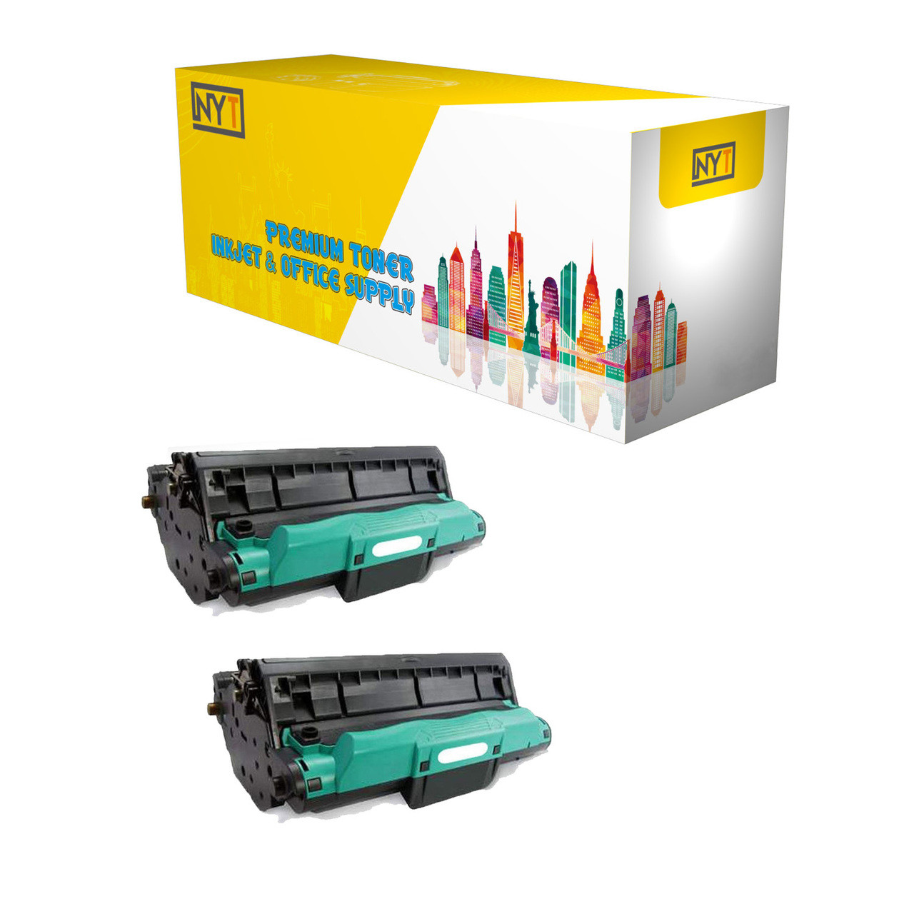 New York Toner New CE314A Compatible Drum Cartridges for HP Color LaserJet  Pro: 100 MFP M175nw, CP1025nw, M275 - 2 Black
