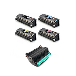 Compatible Black Cyan Yellow Magenta HP Toner & Drum Cartridge Q3960A Q3961A Q3962A Q3963A And Q3964A (DR 20000 pages?4000 Page Yield) for HP Color LaserJet 2550Ln,-1Set+DR by Unknown