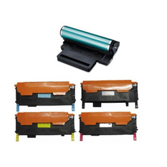 Compatible Replacement for the Samsung? CLT-K407S CLT-C407S CLT-M407S CLT-Y407S + CLTR407 Drum & Toner Cartridges - Black Cyan Magenta Yellow, BK 1500 pages?DR 24000 pages?C M Y 1000 Yield-1Set+1DR