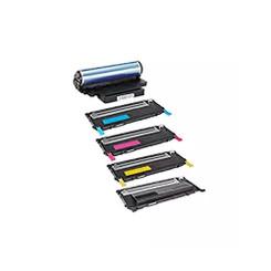 Compatible Samsung CLT-K407S CLT-C407S CLT-M407S CLT-Y407S Toner CLTR407 Drum, Black Cyan Magenta Yellow-1Set+1DR