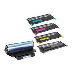 Compatible Replacement for the Samsung? CLT-K407S CLT-C407S CLT-M407S CLT-Y407S Toner and CLTR407 Drum Cartridges- Black 1500 Cyan Magenta Yellow 1000 Drum 24000 Yield