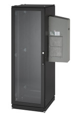 Black Box NEMA 12 Cabinet 8000BTU AC 42U 82.4x42.9x33.7 Tapped Rails 230V CC42U8000T-230-R2