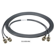 Black Box Dual Coax DS3 Cable, BNC, Male/Male, 50-ft. DS3-0050-BNC