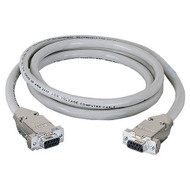 Black Box RS232 Shielded Cable w/ Metal Hoods DB9F/F 50Ft. EDN12H-0050-FF
